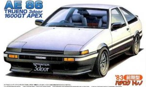 1:24 Scale Fujimi Toyota AE86 Trueno Early Type 1983 Model Kit #589p