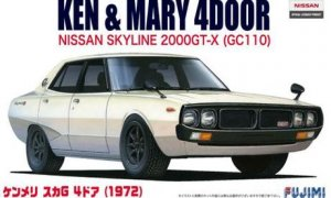 1:24 Scale Fujimi Nissan KPGC110 GTR 1972 Ken & Mary Model Kit #542p
