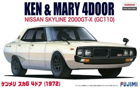 1:24 Scale Nissan KPGC110 GTR 1972 Ken & Mary Model Kit #542p