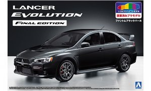 1:24 Scale Mitsubishi Lancer Evo X Final Edition Pre-Painted Phantom Black-Pearl Model Kit #1031p