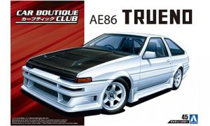 1:24 Scale Toyota Trueno AE86 Car Boutique Club 1985 Model Kit #169