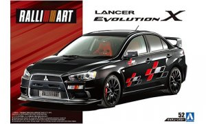 1:24 Scale Mitsubishi Lancer Evo X Ralliart 2007 Model Kit #176