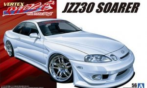 1:24 Scale Aoshima Toyota Soarer Vertex T&E JZZ30 1996 Model Kit #180p