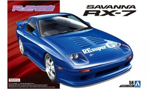1:24 Scale Aoshima Mazda RX7 FC3S RE AMEMIYA Model Kit #182p