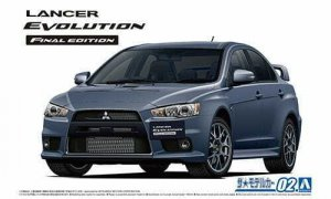 1:24 Scale Aoshima Mitsubishi Lancer Evolution X CZ4A Final Edition Model Kit #1296