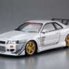 1:24 Scale Aoshima Nissan Skyline R34 GTR C-WEST BNR34 Model Kit #174p