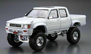 1:24 Scale Aoshima Toyota LN107 HILUX Pickup Double Cab LIFT UP '94 Model Kit #129
