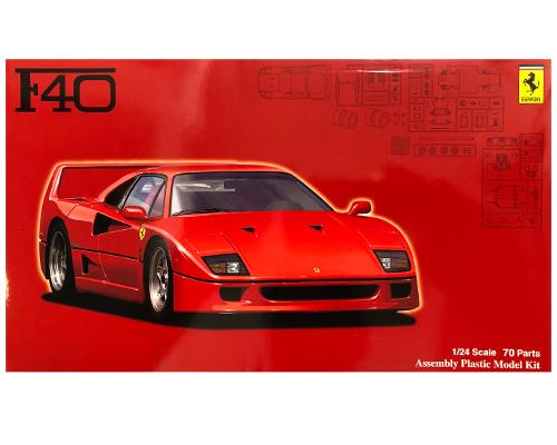 1:24 Scale Fujimi Ferrari F40 Model Kit #