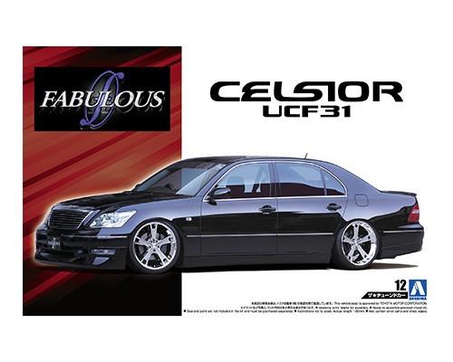 1:24 Scale Aoshima Toyota Celsior Fabulous VIP UCF31 Model Kit #136p