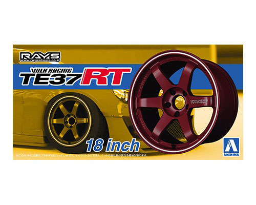 1:24 Scale RAYS TE37 RT 18'' Wheel Accessory Model Kit Set #227