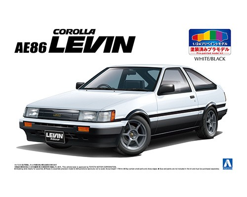 1:24 Scale Aoshima Toyota Levin AE86 [pre painted] Model Kit #1038p