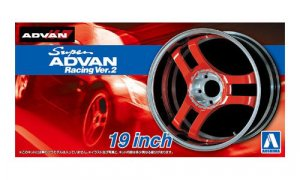 1:24 Scale Advan Super Racing V2 Wheels & Tyre Set #272