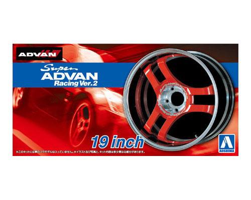 1:24 Scale Advan Super Racing V2 Wheels & Tyre Set #272