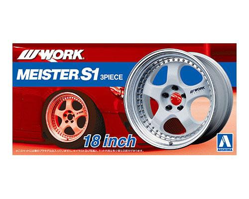 1:24 Scale Work Meister S1 18'' Wheel Accessory Model Kit Set #224