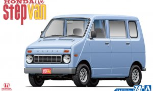 1:24 Scale Aoshima Honda Life Step Van Model Kit #73p