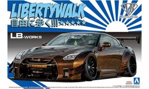 1:24 LB Works Golden R35 GTR Liberty Walk
