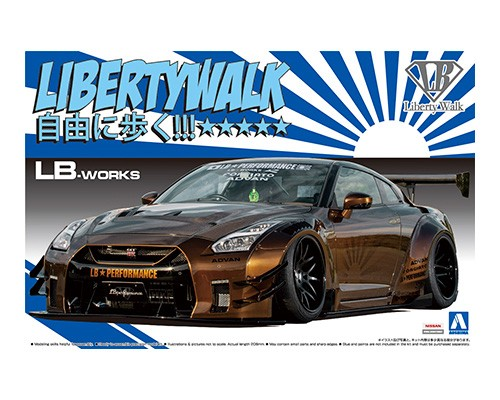 1:24 LB Works Golden R35 GTR Liberty Walk