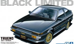 1:24 Scale Aoshima Toyota Trueno GT-Apex Black Ltd. Model Kit #116p