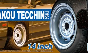 1:24 Scale Kakou Tecchin Type 2 Wheels & Tyres Set #280