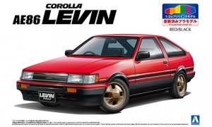1:24 Scale Aoshima Toyota AE86 LEVIN [pre painted] Model Kit #200p
