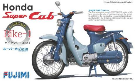1:12 Scale Honda SUPER CUB Model Kit #916