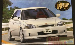 1:24 Scale Fujimi Honda Civic EK9 Type R 'LATE MODEL' Model Kit #761p