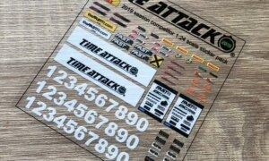1:24 Scale Decals - UK Time Attack 2019 Season Competitor Replica Sticker Pack