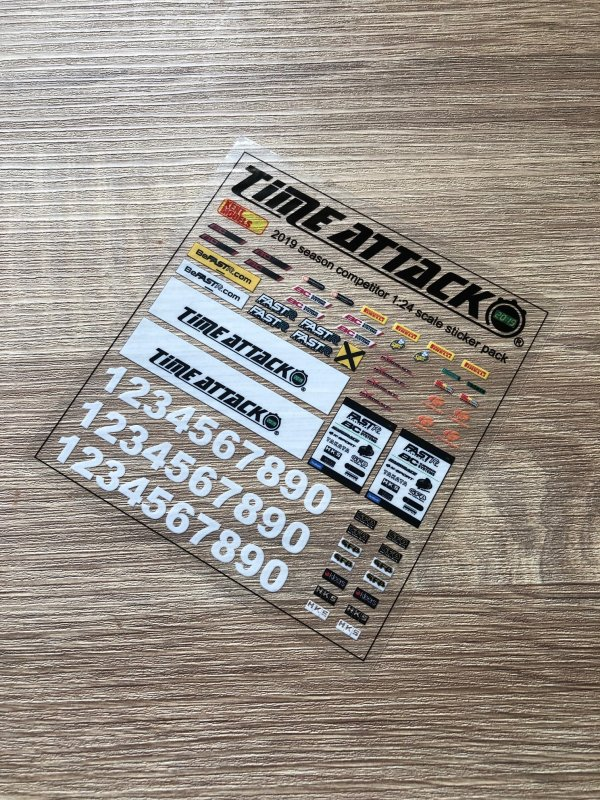 1:24 Scale Decals - UK Time Attack 2019 Season Competitor Replica Sticker Pack