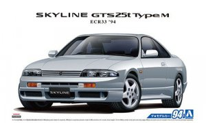 1:24 Scale Aoshima Nissan Skyline ECR33 GTS-T GTS RB25 Model Kit #93p