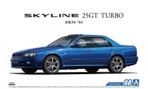 1:24 Scale Aoshima Nissan Skyline R34 ER34 25GT GTT Model Kit #87p