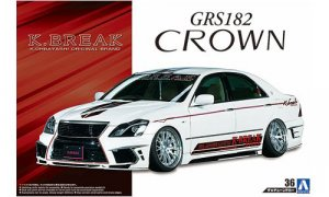 1:24 Scale Aoshima Toyota Crown K Break Hyper Zero Custom Model Kit #160p