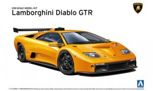 1:24 Scale Aoshima Lamborghini Diablo GTR Model Kit #313p