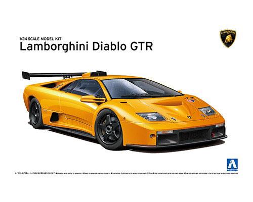 1:24 Scale Aoshima Lamborghini Diablo GTR Model Kit #313p