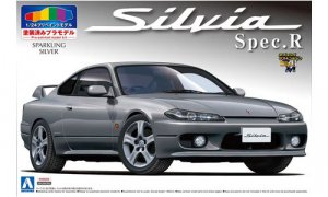 1:24 Scale PRE PAINTED Nissan Silvia SPEC R (Sparkling Silver) Model Kit #191p
