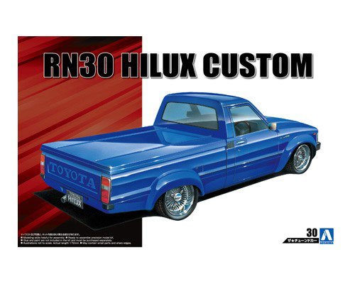 1:24 Scale Aoshima Toyota Hilux RN30 Model Kit #154p