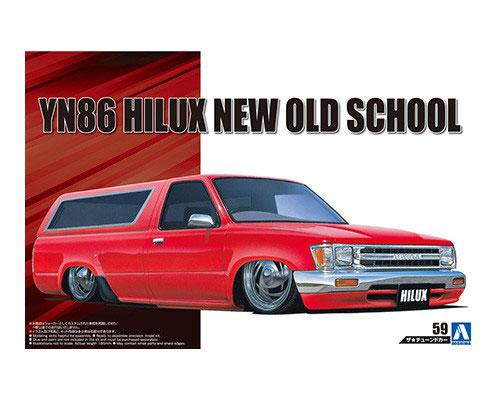 1:24 Scale Aoshima Toyota Hilux New Old School YN86 1986 Kit #183p
