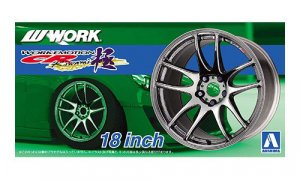 1:24 Scale Work Emotion Kiwami Wheels & Tyre Set #225