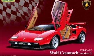 1:24 Scale Wolf Lamborghini Countach Version 1 Model Kit #298