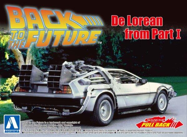 1:43 Scale Pull-Back Car - Back To The Future Pt.1 Delorean Model Car #440