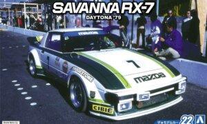 1:24 Scale Aoshima Mazda RX7 SA22C Racing Car Daytona 1979 Model Kit #22
