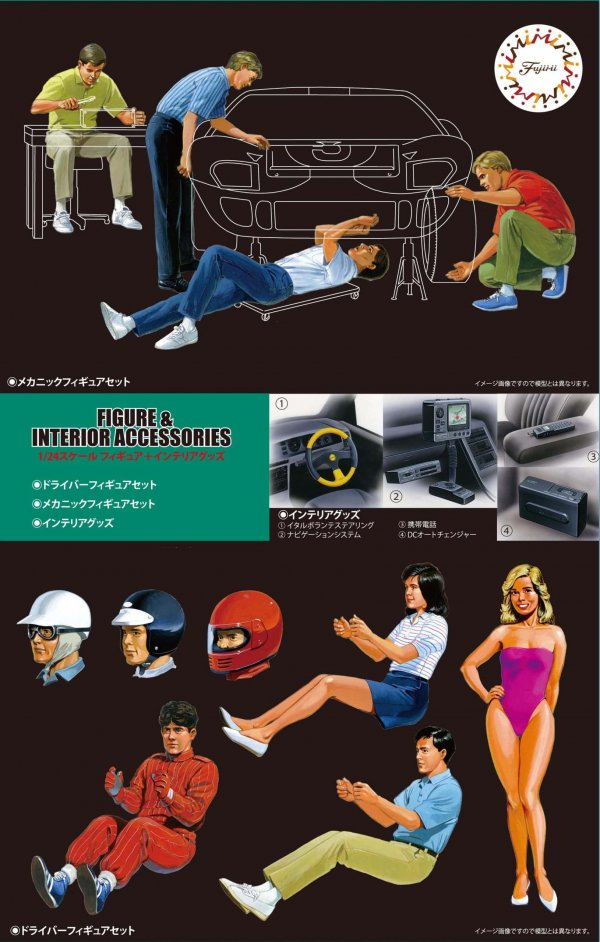1:24 Scale Figures & Interior Accessories Model Kit #888p