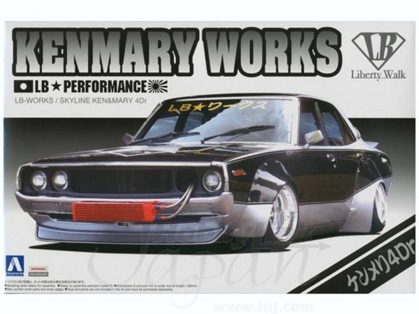 1:24 Scale LB Works Ken & Mary 4dr Model Kit #320p