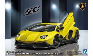 1:24 Scale Aoshima Lamborghini Aventador LP720-4 50th Anniversary Model Kit #306p