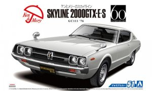 1:24 Scale Nissan Skyline HT2000 GTX-E.S 1976 GC111 Model Kit #51