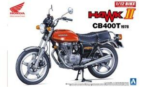 1:12 Scale Honda Hawk II CB400T Motorcycle Model Kit #392