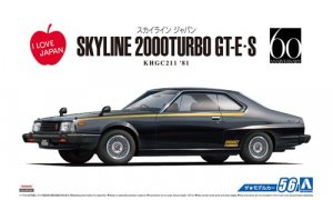 1:24 Scale Nissan Skyline HT2000 GT-E.S 1981 KHGC211 Model Kit #55