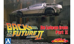1:43 Scale Pull-Back Delorean Car - Back To The Future Pt.2 Model Kit #441