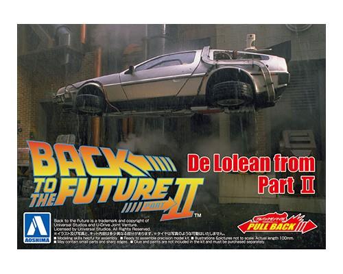 1:43 Scale Pull-Back Delorean Car - Back To The Future Pt.2 Model Kit #441