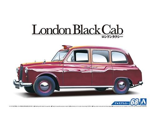 1:24 Scale Aoshima London Black Cab Taxi 1968 Model Kit #67p