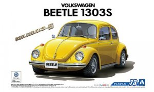 1:24 Scale Aoshima Volkswagen VW Beetle 1303S 1973 Model Kit #72p
